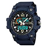 SKMEI Reloj deportivo digital para hombre, resistente al agua, con pantalla LED, gran cara, cronómetro, alarma, reloj de pulsera