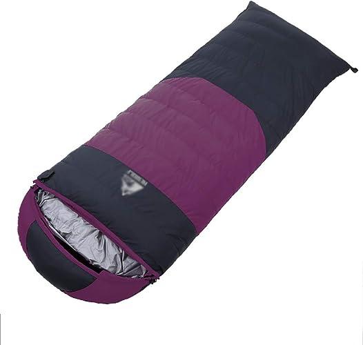 Lw outdoor Sac de Couchage extérieur Sacs de Couchage épissés légers Chauds avec Le Sac idéal de Compression pour la randonnée Sac à Dos, 210  80cm (Couleur   A2)
