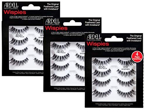 ARDELL Professional Demi Wispies (1 x 4 Paar), 4 Paar,25 g - Wimpern aus Echthaar, schwarz, black (ohne Wimpernkleber) ultraleicht, flexibel und wiederverwendbar (3x)