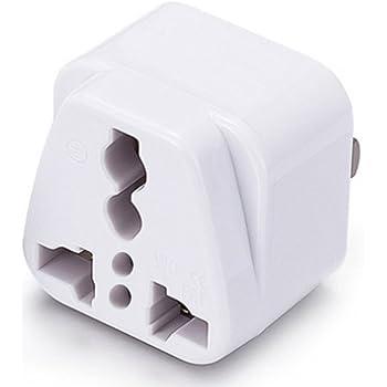 US AU EU to UK AC Power Plug White Travel Wall Adapter Plug Converter CP