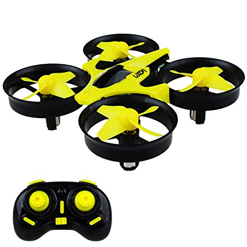 Mini Drone Headless RC Quadcopter 2.4GHz 4CH 6 Axis Remote Control Helicopter Indoor/Outdoor Flying Small Airplane with One Key Return for Beginner (Yellow)