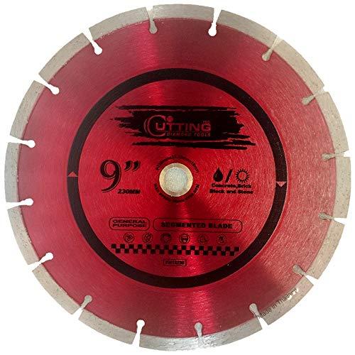 Cutting Pro 9 inch Dry or Wet Cutting General Purpose Power Saw Segmented Diamond Blades for Concrete Stone Brick Masonry (9