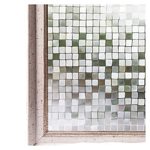 CottonColors 3D窓用フィルム 目隠しシート 何度でも貼り直せる 窓ガラスフィルム 遮熱 紫外線カット のりなし プライバシーガラスフィルム DIY 44x200cm [石道011]