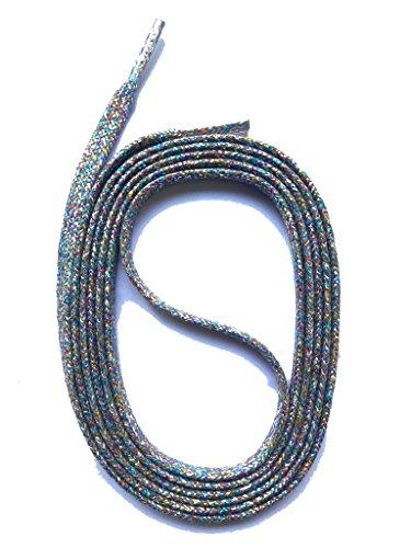 SNORS - Schnürsenkel flach - GLITZER FLACHSENKEL 130cm, ca. 5mm, Grau