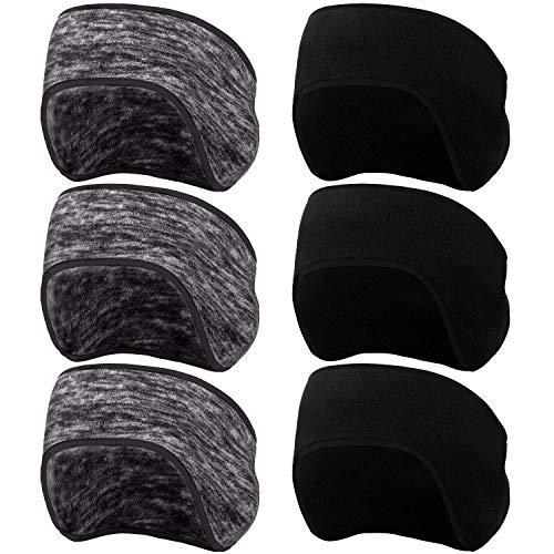 BBTO 6 Stück Winter Ohrenwärmer Stirnbänder Strecken Vlies Stirnbänder Laufen Ohrenschützer für Erwachsene Kinder (Farbe Set 2)