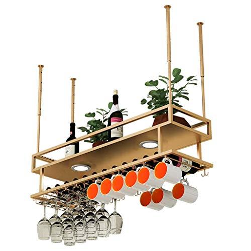 1yess Wine Glass Rack con la Bottiglia Cup Holder Regolabile Boom Altezza d'attaccatura Bevande Basamento del Ferro Europeo di Stile for la Cucina/Bar/Ristorante Rack Size : 150cm(59.1in)