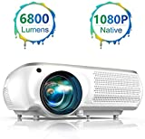 Projector, TOPTRO 6800 Lumens Native 1920x1080P Full HD Video Projector Support 4K Video
