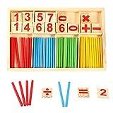 Matemáticas con números caja colorido palillos juegos educativos bloques de construcción contar...
