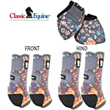 LrgClassic Equine Legacy2 Horse Front Hind Sports Boots Bell 6 Pack Wildflower