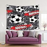 Henge Home Tapiz impreso de arte deportivo para el hogar, sala de estar, dormitorio, decoración duradera para colgar en la pared – Batminto de baloncesto