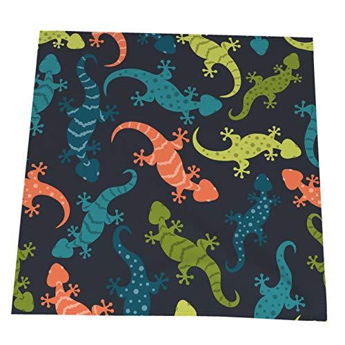 Ye Hua Eidechsen Bunte Geckos Tischsets Polyester Waschbare Tischsets für Küche/Esstisch Bauernhaus Tischdekoration 2er-Set