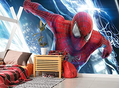 Spider Man Papier peint photo mural super-héros Marvel Décoration murale (144 x 100 pouces/366 x 254 cm) Poster géant en papier pour chambre d'enfant