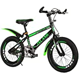 MIAOYO Bike per Bambini, Bici per Bambini, V-Freno, Alluminio 18 20 22 Pollici 6-9 Anni Bambini Bicicletta Giovanile per Ragazzi e Ragazze,Verde,20inch