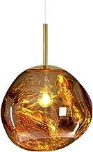 Hlidpu Moderne kandelaars, smelten, hanglampen, lavaglas, zilverkleurig, onregelmatig, goudkleurig, spiegel van koper, roo...