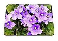 22cmx18cm マウスパッド (スミレ開花室内観葉植物) パターンカスタムの マウスパッド
