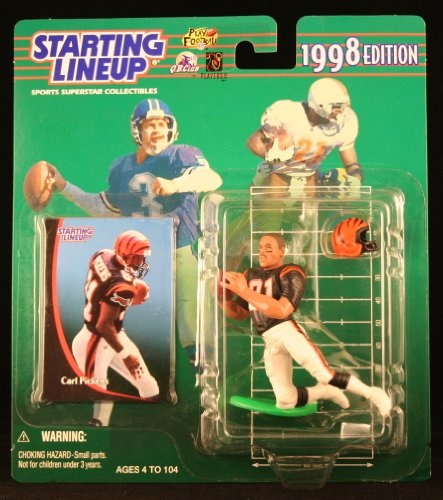 Starting Lineup Carl Pickens / Cincinnati Bengals 1998 NFL Action Figure & Exclusive NFL Collector Trading Card