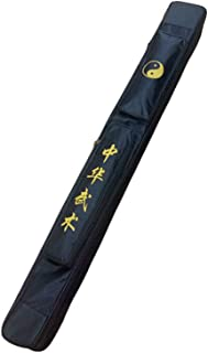 ZooBoo Taichi SwordCarryingBag - Chinese Kung Fu Sword Bag Single and Double Layer Sword Carrying Case Martial Arts Weapons Case Sword Shoulder Bag - Oxford Cloth with PU