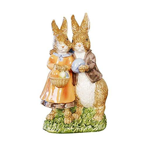 misslight Statues de Lapin de Pâques en résine Ornements de Lapin Décoration de Pâques (Style2)