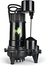 ECO-FLO PRODUCTS INCORPORATED ECO-FLO Products ECD33V Cast Iron Sump Pump with Vertical Switch, 1/3 HP, 3,300 GPH