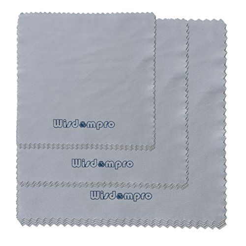 Wisdompro 12-Pack Microfiber Cleaning Cloth for Camera Optical Lens, Glass, Cell Phone, iPad, Tablet, Laptop, LCD TV, Computer Screen, Monitor and Other Sophisticated Surface (Assorted Size)