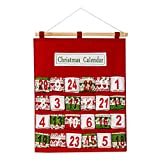Iusun Merry to Christmas Advent Calendar Traditional Wall Decorations Hanging Dress Up Ornament DIY Xmas Tree Window Decor for Wedding Party Holiday New Year (A)