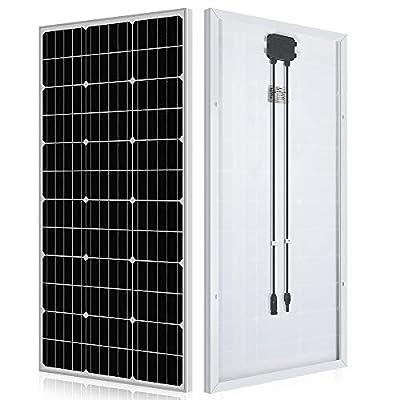 ECO-WORTHY 100 Watt Solar Panel 12 Volt Monocrystalline Solar Panel High Efficiency Module RV Marine Boat Caravan Off Grid