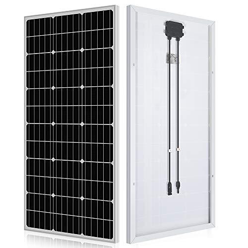 ECO-WORTHY 100 Watt Solar Panel 12 Volt Monocrystalline Solar Panel