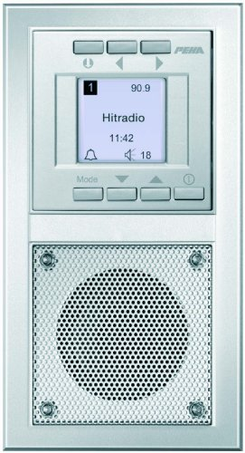 Honeywell Home Peha D 20.485.70 Radio Unterputz-Radio im Aura-Design, silber
