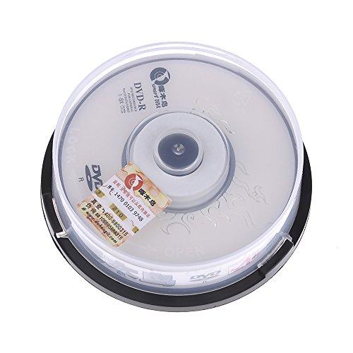 DDU Lot de 10 disques vierges 1,4 Go 30 min 1-8 x 8 cm DVD-R DVD inscriptible Blanc neuf