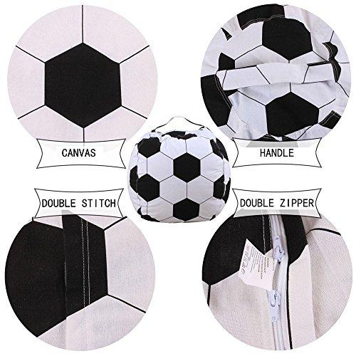 Lagerung Kinder, Kinder Kuscheltier Plüsch Fußballspielzeug Aufbewahrung Sitzsack Weiche Tasche Streifen Stoff, Housekeeping & Organisatoren