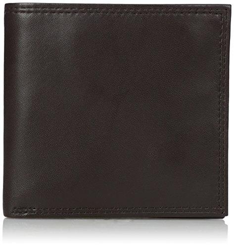 Buxton Men's Emblem-Leather Cardex Wallet, Brown, One Size