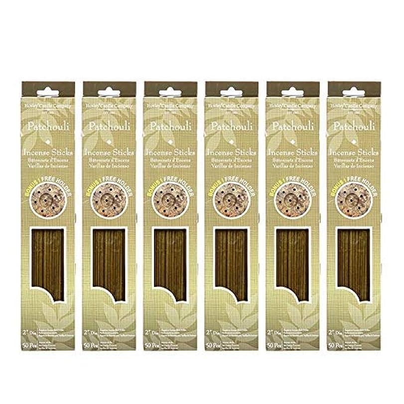 技術打ち上げるパンフレットHosley 300?Incense Sticks /約300?gm。パチュリHighly Fragranced Incense withボーナスホルダー。手Fragranced、Infused with Essential Oils。o9