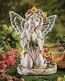 CT DISCOUNT STORE Beautiful Kneeling Solar Angel (Beautiful Kneeling Angel)