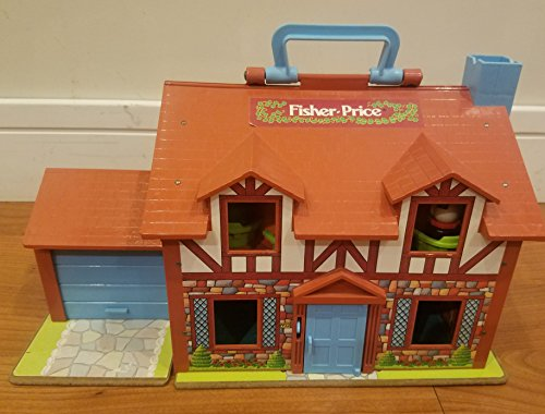 Fisher-Price Vintage Little People Brown Tudor House with Accessories