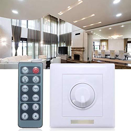 Controllore Dimming LED DC12V 24V 8A regolabile LED Luminosità Luce Dimmer Controller + 12 chiave IR remoto, la protezione a fuoco