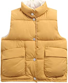 Milkiwai 子供服 防寒ベスト ノースリーブ 暖かい 防風 軽量 ゆったり 保温 登山 純色 男の子 女の子 韓国風 中綿 秋冬 大きいサイズ ファション