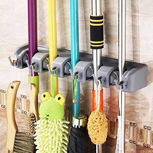 Sterke vloerwisser absorberende sponswisser roestvrijstalen handgreep microvezelpad huis schoonmaakgereedschap huis badkamer keuken schoon 5Position 6Hooks