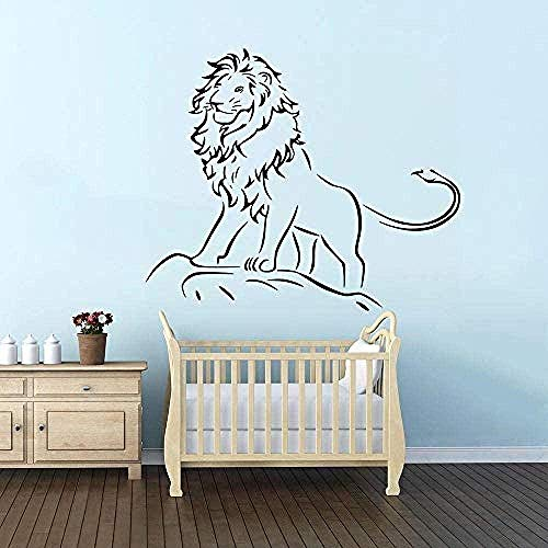 Muursticker,mode Lion muur sticker Kids jongens kamer Decor Lion King van de Jungle Wall Art muurschildering verwisselbare Forest Animal Vinyl Stickers 57x68cm