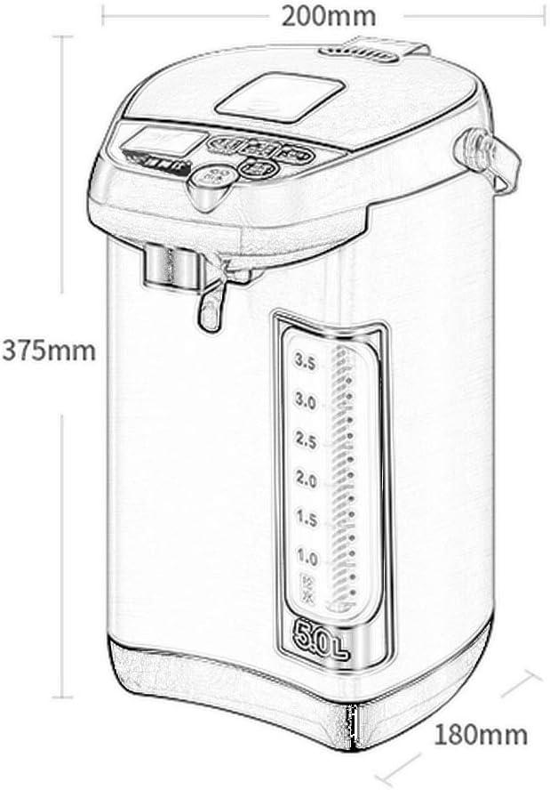 Heißwasserspender, Wasserkocher for Tee Oder Kaffee 5L Kapazität, Verschiedene Isolationstemperaturen, Antitrocken, Sicher, Heißwasserspender (Color : Rose Gold) Rose Gold