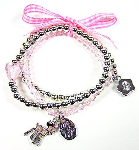 MY DEAR Diddl Bettelarmband Armband silber rosa