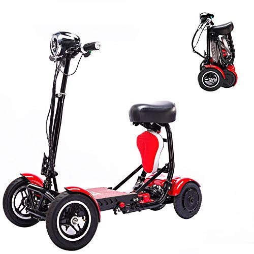 ZJYHYF Electric Wheelchair Foldable Lightweight Power Mobility Scooter Wheelchair Multi Terrain Easy...