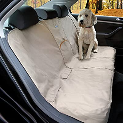 Kurgo Dog Seat Cover | Car Bench Seat Covers for Pets | Dog Back Seat Cover Protector | Water Resistant for Dogs | Contains Seat Anchors | Scratch Proof | Wander Bench | 55"