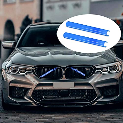 Kühlergrill Einsatz Zierleiste für BMW 1 2 3 4 5 6 7er Autozubehör, Autosport-Styling Grillstreifen 2 Stück Kompatibel für F20 F21 F22 F23 F44 F45 F46 F30 F31 F34 F32 F33 F36 G30 G31 G38 G32 G11 G12