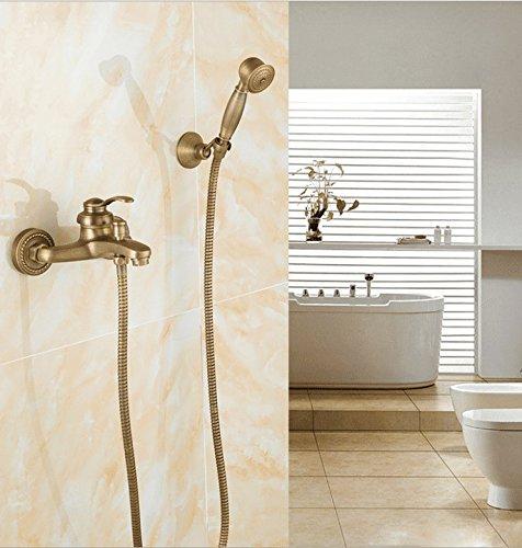 Retro zwart messing een handvat een gat keramische klep tegel waterval Outlet warm en koud water badkamer wastafel kraan