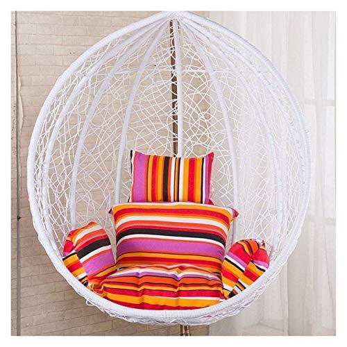 Cojines para exteriores para sillas de patio, columpios de ratán colgantes, cojines para sillas en forma de huevo, con reposabrazos, para exteriores / interiores, para jardín, muebles de patio, coji