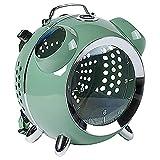 YWCH Bolsa, Reloj de Alarma Retro Gato, recordatorio Verde, Temperatura y Humedad, Pantalla de Temperatura y Humedad en Tiempo Real, Ajuste el Medio Ambiente en Cualquier Momento, en Cualquier Lugar