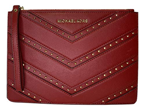 MICHAEL Michael Kors Ellis XL Zip Clutch Wallet, Rot