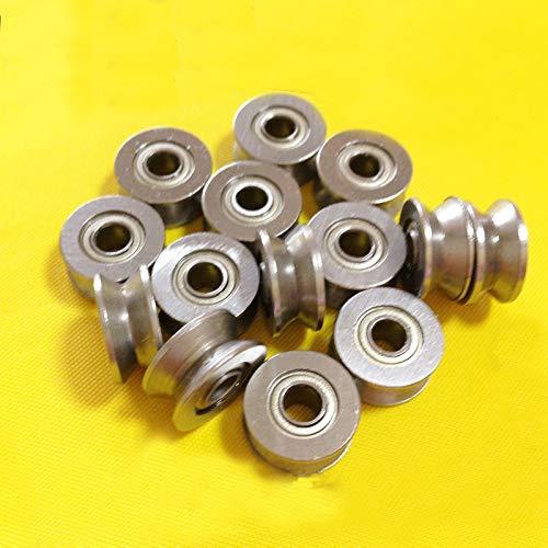 LMY-PULLEY, 1 rodamiento en miniatura de cojinete de polea de alambre V624ZZ con ranura en V tamaño 4 x 13 x 6 mm eje, 4*13*6mm