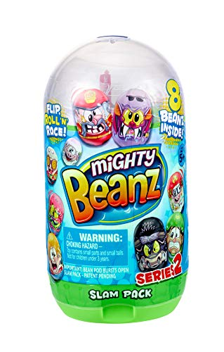 Mighty Bean Flip, Roll 'N Race Slam Pack with Eight Mighty Beans