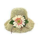 Xingyue Aile Sombrero de copa y gorras de vaquero, Casquillo de la playa de 2018 flores a cielo abierto, sombreros del verano para las mujeres hecho a mano sombrero de paja sombreros plegables de alta
